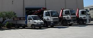 Flota de camiones industriales de Rezola Marrodán