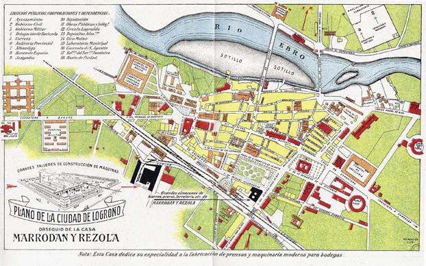 Plano de Logroño de 1917.